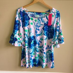 NWT Lilly Pulitzer Lula Top: Sweet Pea, XL.